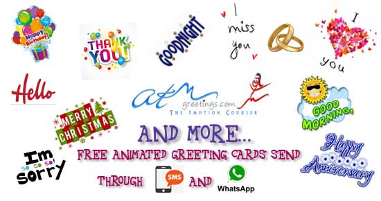 Free Mobile Phone Ecards Cell Greeting Cards MMS Text SMS WhatsApp From ATMGreetings